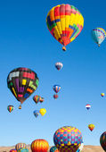 Colorful Hot Air Balloons on a Sunrise Flight — Stock Photo