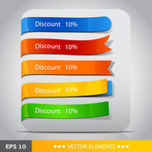 Color vector tags discount — Stock Vector