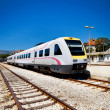 Fast modern train Split Croatia Zagreb — Stock Photo