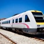 Fast modern train Split Croatia Zagreb — Stock Photo #12146573