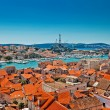 Aerial view of Trogir in Croatia — Stock Photo