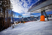 Ski track of Bukovel resort, Carpathian mountains, Ukraine — Stock Photo