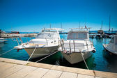 Yacht bay Croatia Baska Voda — Stock Photo
