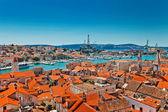 Aerial view of Trogir in Croatia — Stock Photo