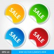 Set of sale tags — Stock Vector #12142809