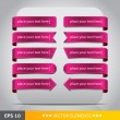 Pink vector tags — Stock Vector
