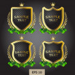 Black and gold labels heraldic — Stock Vector #12146033