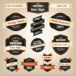 Premium and High Quality Labels vintage design - Imagen vectorial