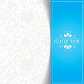 Modré pozadí abstraktní květinové — Stock vektor
