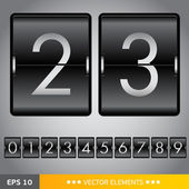 Counting device for web design — Stock Vector