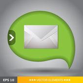 Mail icon ballon — Stock Vector
