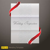 White Template paper Wedding Invitation — Stock Vector