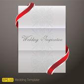 White Template paper Wedding Invitation — Stock Vector