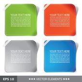 Renkli çıkartmalar. metin etiketleri — Stok Vektör
