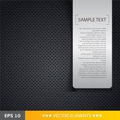 Reproduktor gril textury černé pozadí s textem značky — Stock vektor