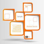 抽象的な web デザインのバブル — ストックベクタ