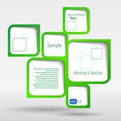 Abstract web design bubble — Stock Vector