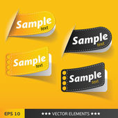 Text sale bubbles. Vector text tags — Stock Vector