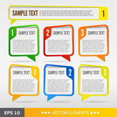 Color text sale bubbles. Vector text tags — Vecteur