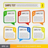 Colore testo bolle di vendita. tag testo vettoriale — Vettoriale Stock