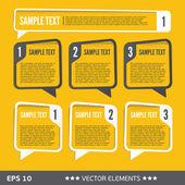 Bulles de texte de vente. balises de texte vecteur — Vecteur