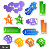 Discount tags. Sale stickers — Stock Vector