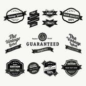 Premium and High Quality Labels vintage design — Vecteur
