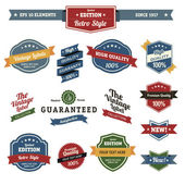 Premium and High Quality Labels vintage design — Stock Vector