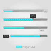 Preloaders and progress loading bars — Stock Vector