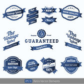 Premium Quality Labels - Collection of retro bi-colours vintage labels with several slogans: Best Choice, Premium Quality — Stockvector