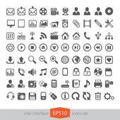 Web multimedia icons set — Stock Vector