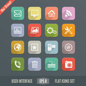 Flat User Interface Icons for Web and Mobile Applications — Stock Vector