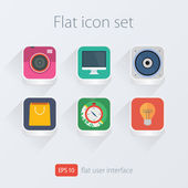 Color flat icons set for design — Stock Vector