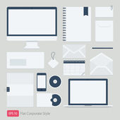 Flat Vector company corporate style template — Stock Vector