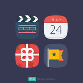 User interface flat icons set — Stockvector