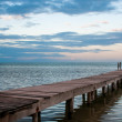 Landing stage view to ocean side - Stock Photo
