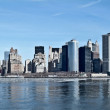 New York Skyline from Ferry - Stock Photo