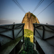 Sugarloaf mountain, cable car station at ucar - Stock Photo