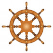 Royalty-Free Stock Vector Image: Ship navy wheel isolated