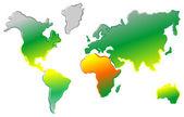 карта мира искусства — Cтоковый вектор