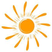 искусство изолированные вектор солнца — Cтоковый вектор