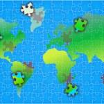 World map puzzle background illustration — Stock Photo