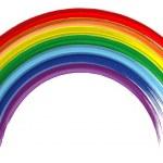 Art rainbow abstract brush paint vector background 5 — Stock Vector #12676440