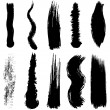 Stock Vector: set of grunge brush smoothed strokes eps