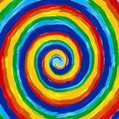 Art rainbow abstract swirl vector background — Stock Vector