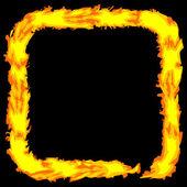 Abstract fire color grungy border Vector frame — Stock Vector