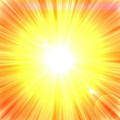 Summer background with a sun rays with lens flare — Stock Photo