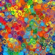 Abstract art rainbow circles swirl colorful pattern music grunge background — Stock Photo #21062225
