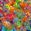 Abstract art rainbow circles swirl colorful pattern music grunge background — Stock Photo