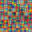 Abstract checkered tiles mozaic geometric pattern background - Stock Photo